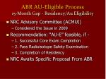 abr au eligible process 15 month gap residency au eligibility