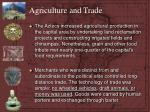 agriculture and trade