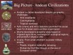 big picture andean civilizations