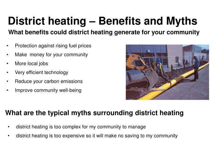 District heating – Benefits and Myths