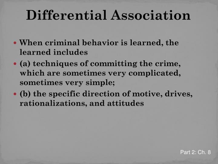 Differential Association