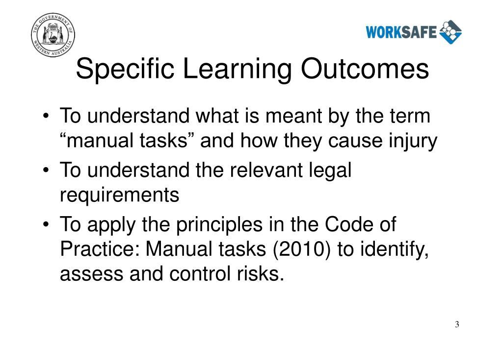 code of practice manual tasks 2010