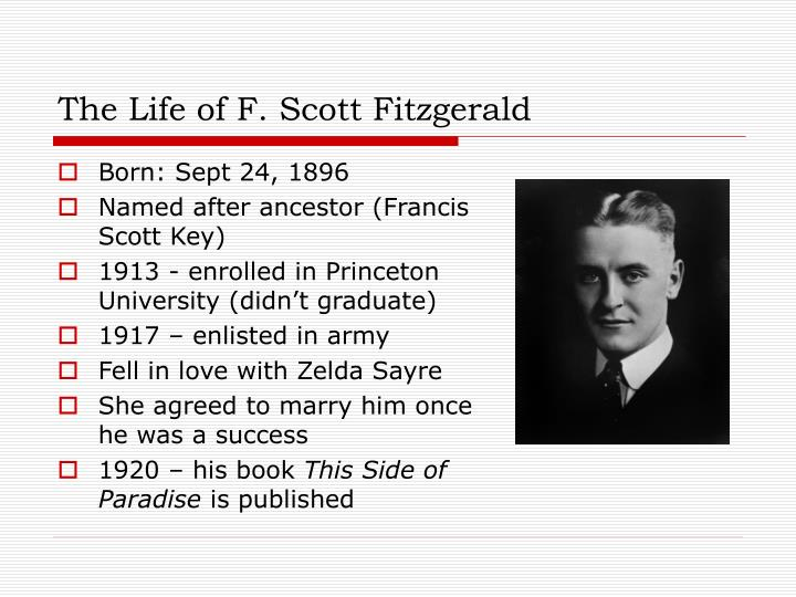 The life of f scott fitzgerald