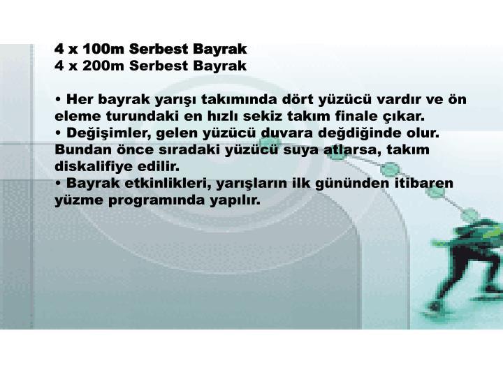 4 x 100m Serbest Bayrak