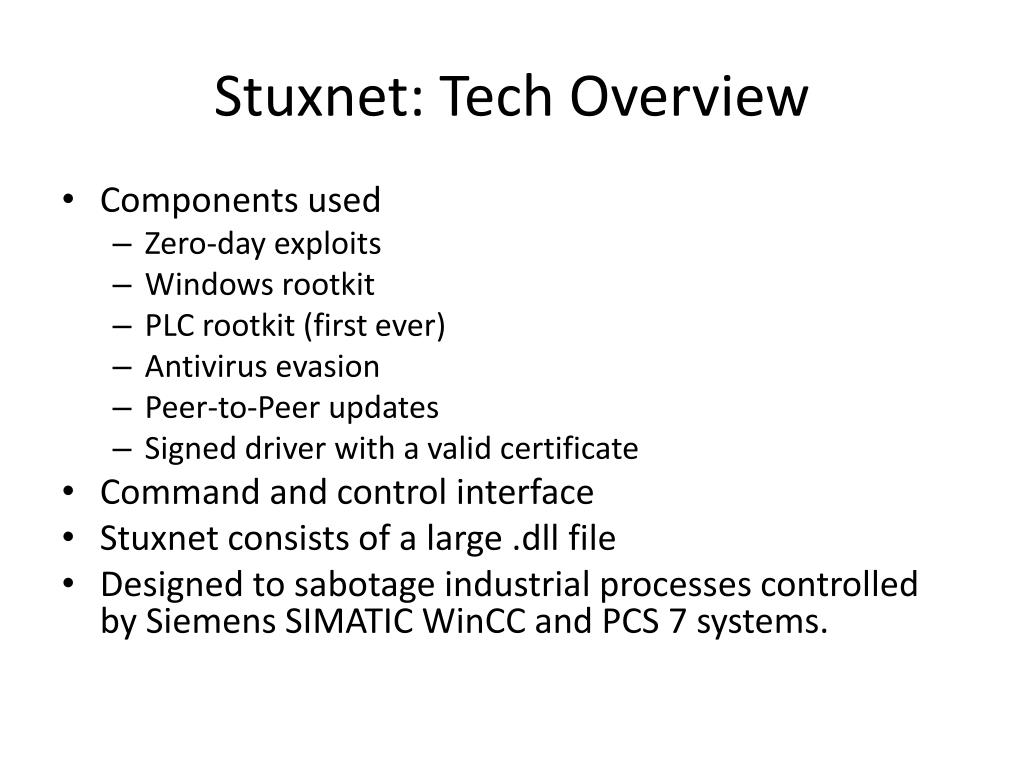 PPT - Real world example: Stuxnet Worm PowerPoint Presentation - ID