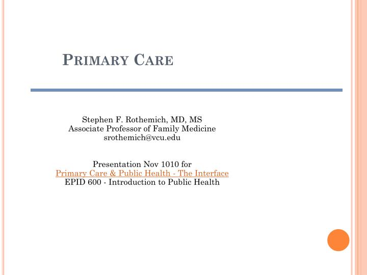 primary care n.