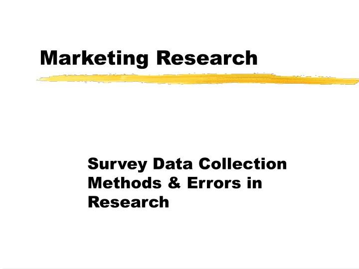 total error in marketing research essay Home white papers common marketing errors (part 1) lack of effective market research the error: performing market research with the wrong audience.