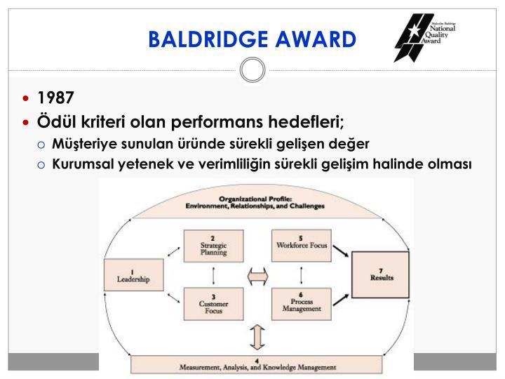 BALDRIDGE AWARD