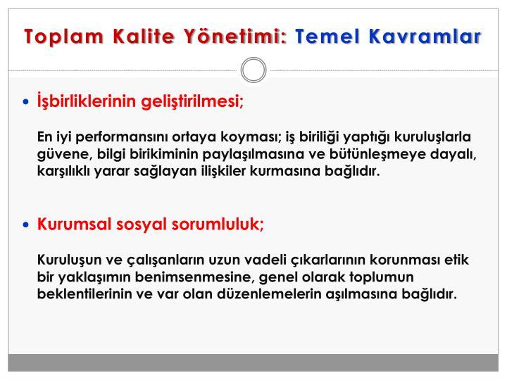 Toplam Kalite Yönetimi: