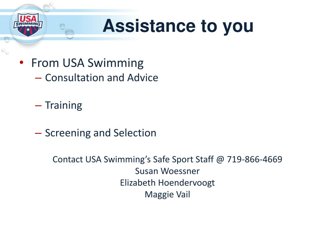 PPT - USA Swimming Safe Sport PowerPoint Presentation - ID