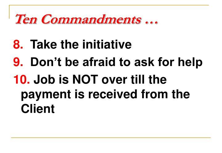 Ten Commandments …