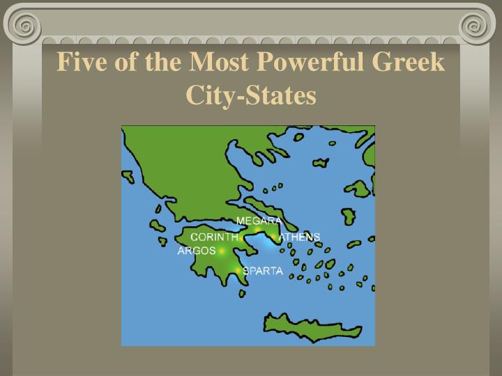 Five of the Most Powerful Greek City-States
