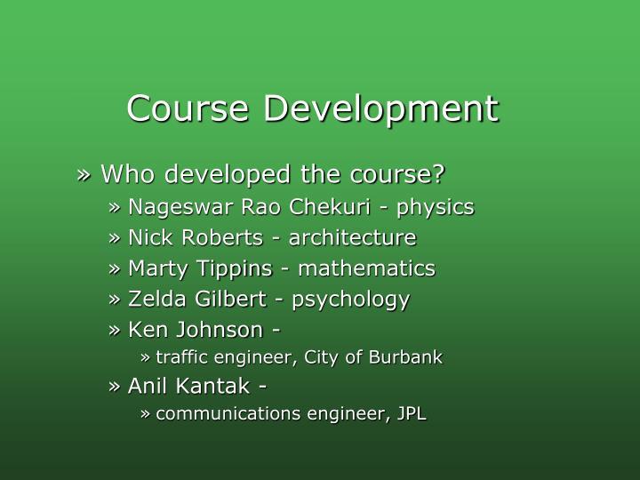Course Development