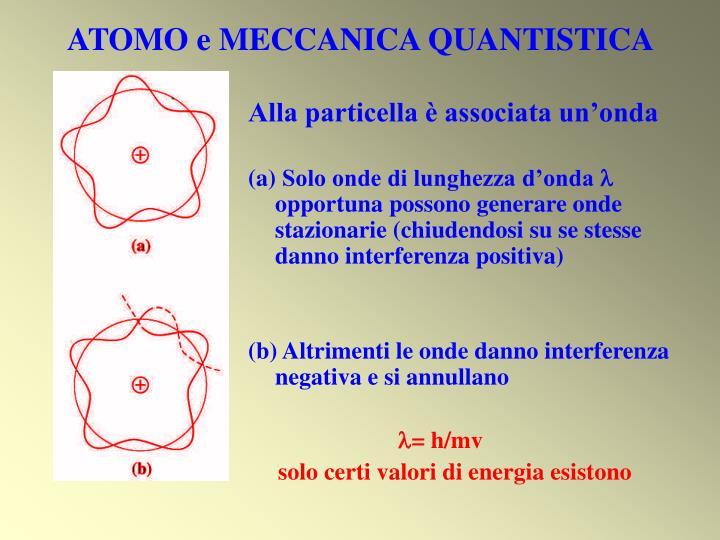 ATOMO e MECCANICA QUANTISTICA