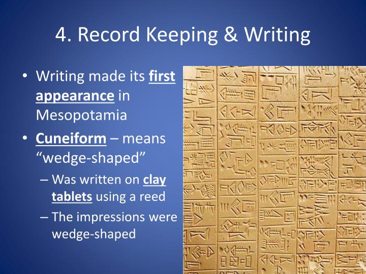 4. Record Keeping & Writing