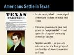 americans settle in texas
