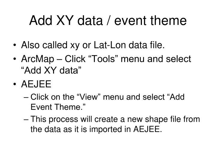 Add XY data / event theme