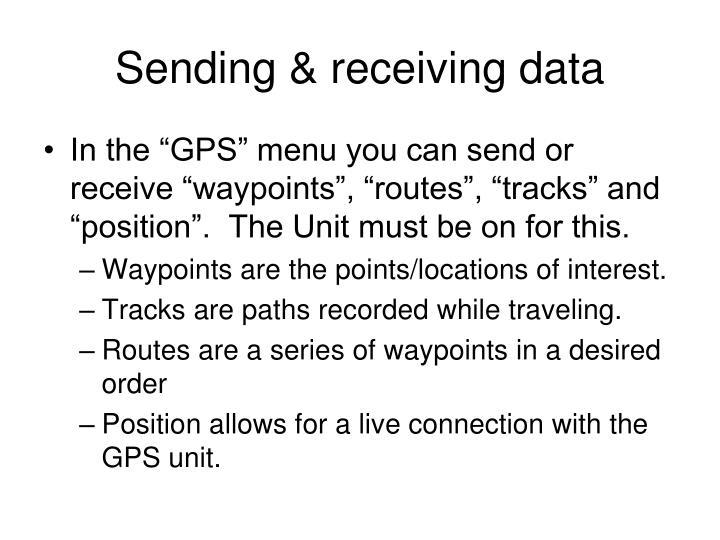 Sending & receiving data