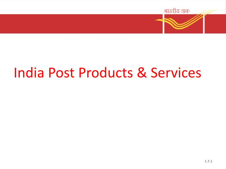 india post products services n.