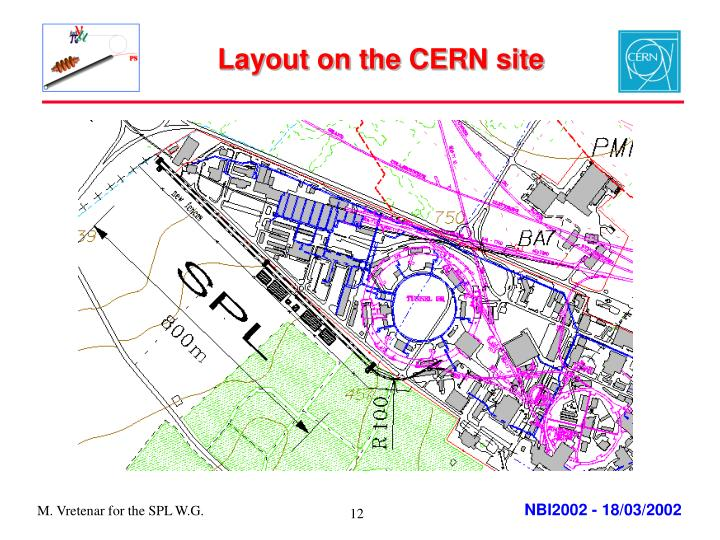 Layout on the CERN site