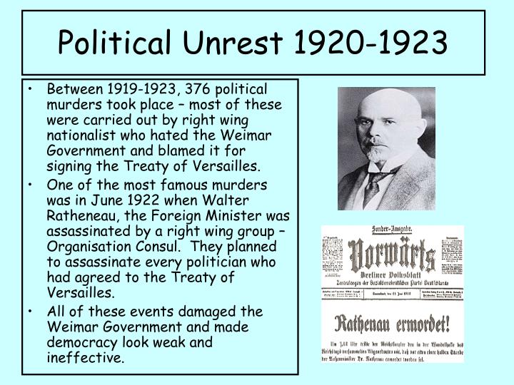 Political Unrest 1920-1923