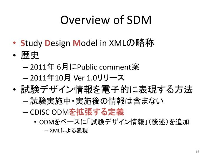 Overview of SDM