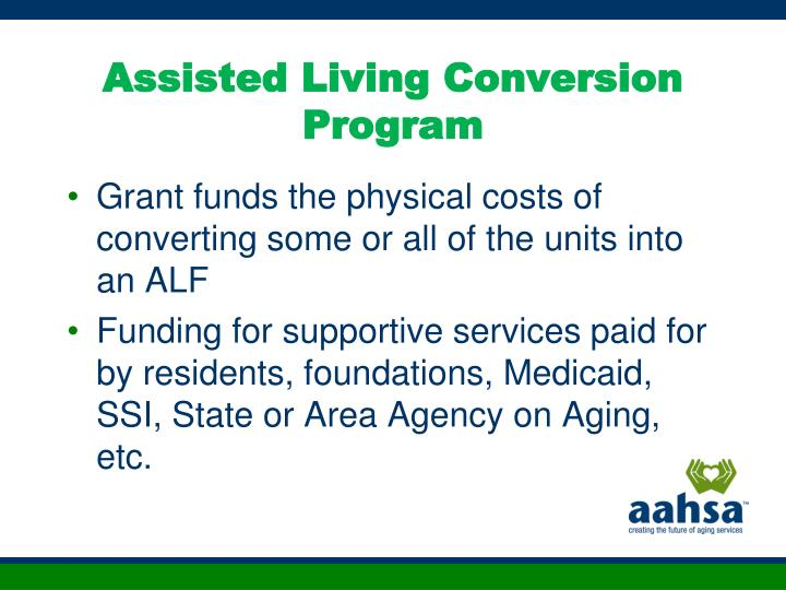 Assisted Living Conversion Program