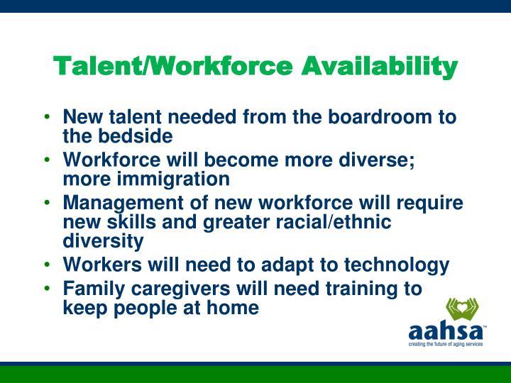 Talent/Workforce Availability