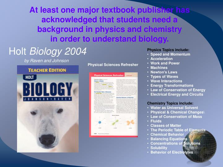 At least one major textbook publisher has