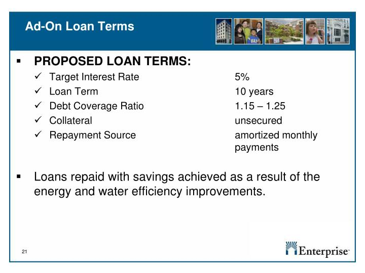 Ad-On Loan Terms