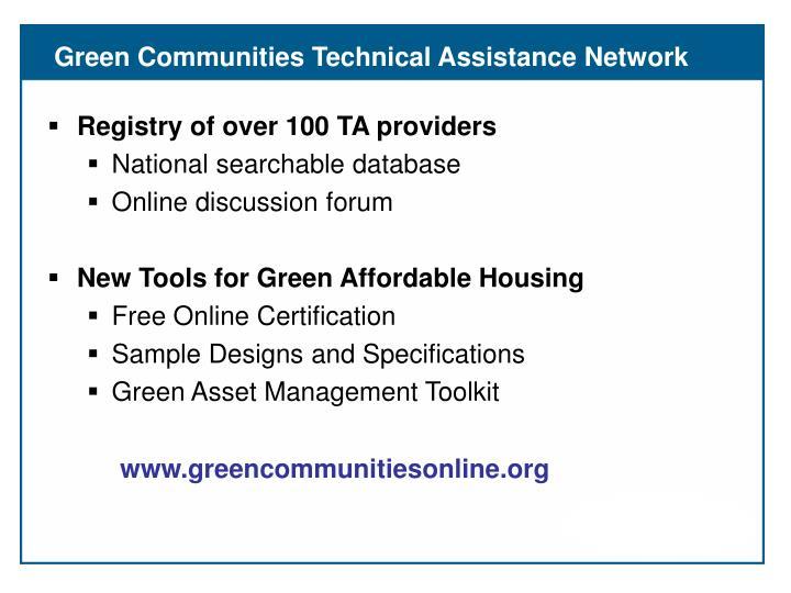 Green Communities Technical Assistance Network