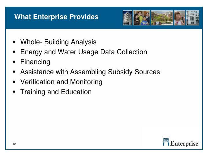 What Enterprise Provides