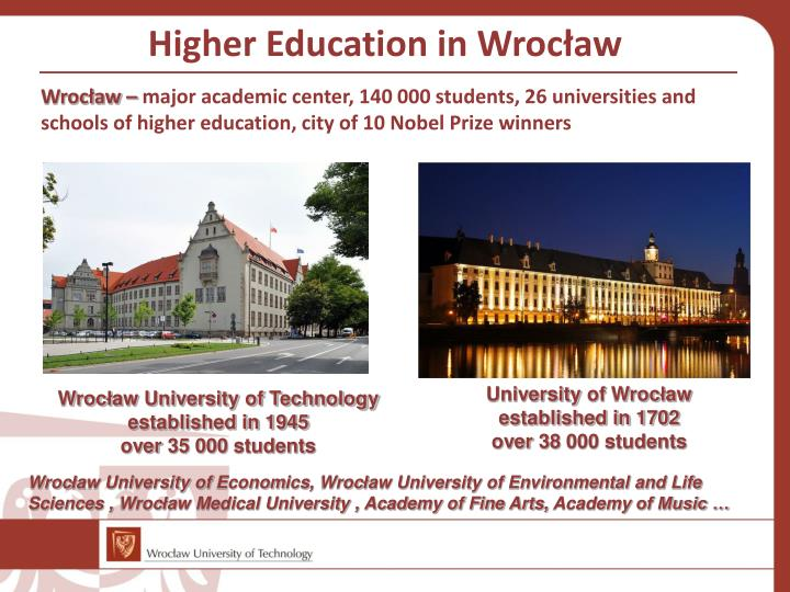 Higher Education in Wroc