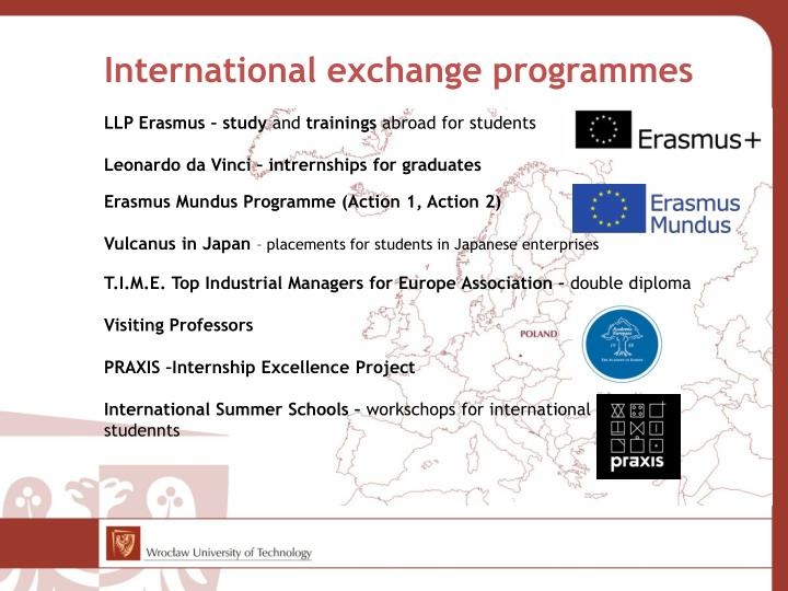 International exchange programmes