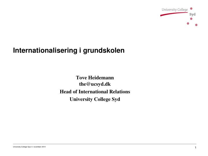 internationalisering i grundskolen n.