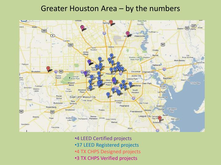 Greater Houston Area – by the numbers