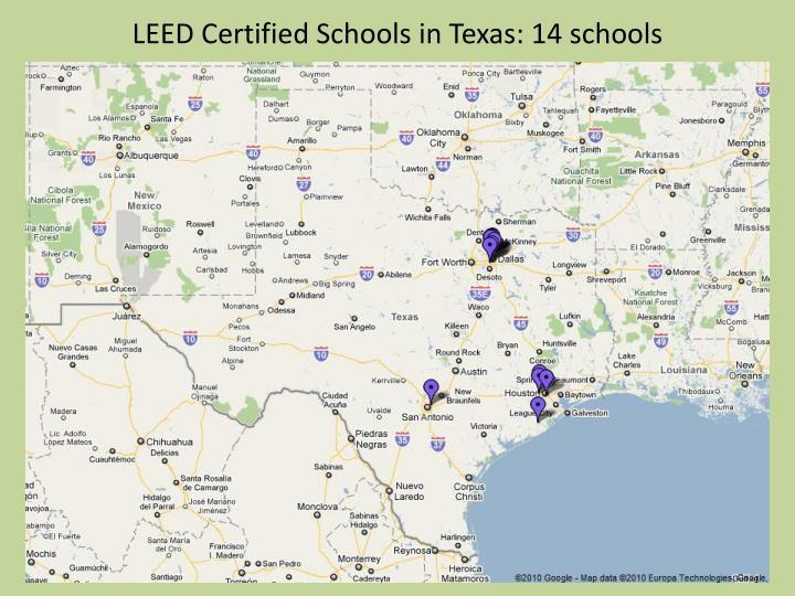 LEED Certified Schools in Texas: 14 schools