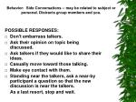 behavior side conversations may be related to subject or personal distracts group members and you