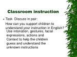 classroom instruction