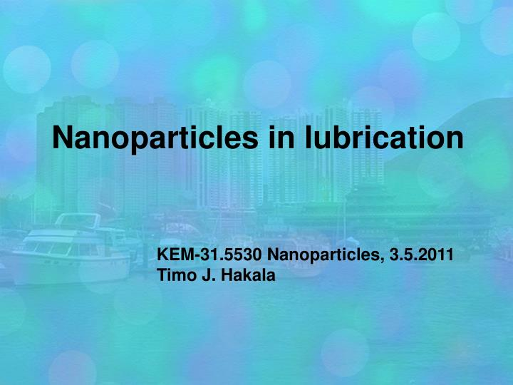nanoparticles in lubrication n.