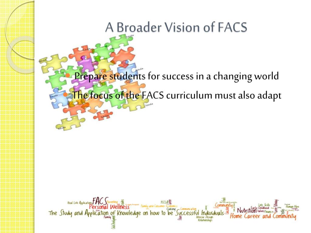 PPT - The Need for FACS Education PowerPoint Presentation