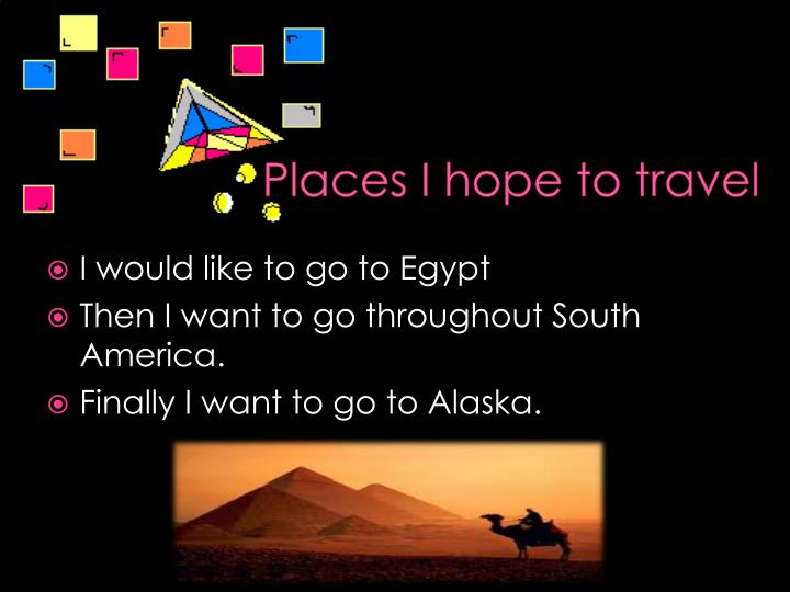 Places I hope to travel