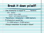 break it down yo self