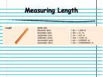 measuring length