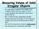 measuring volume of solid irregular objects