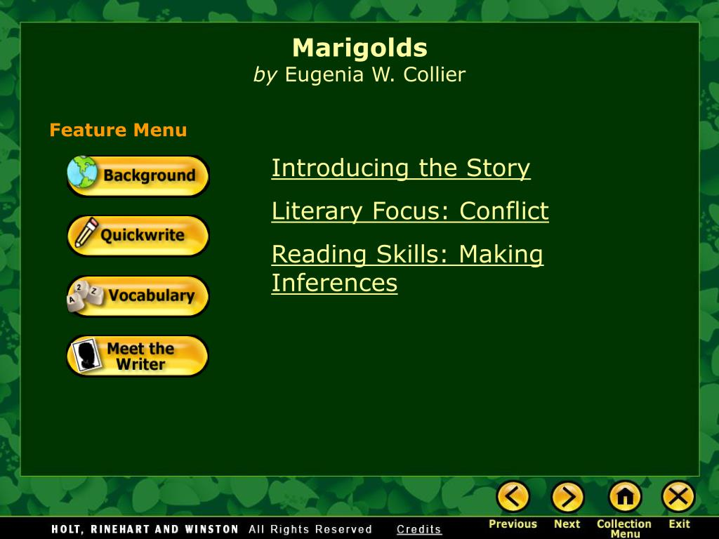 marigolds by eugenia collier full text