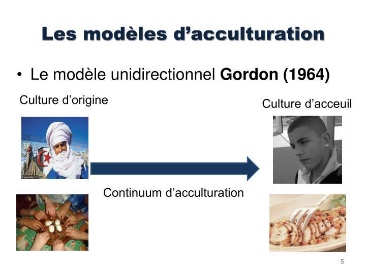 Les modèles d'acculturation