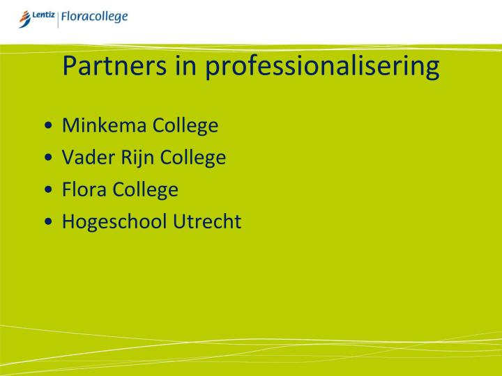Partners in professionalisering