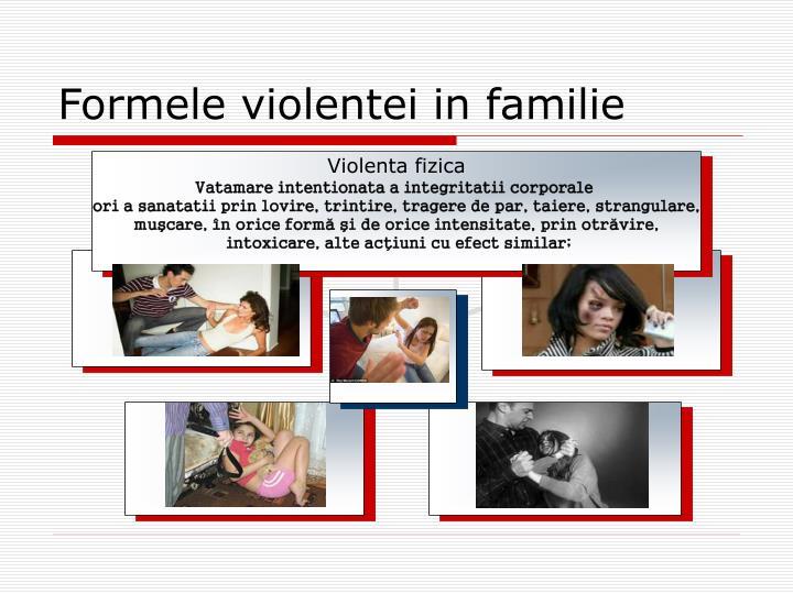 Formele violentei in familie
