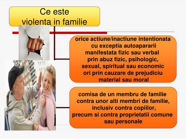 Violenta in familie